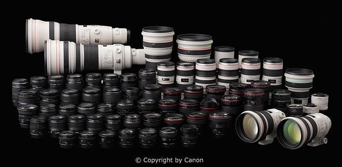 Canon EF-Lens-Collection (c) copyright by Canon