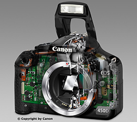 Canon EOS 450D SEE THRU (c) copyright by Canon